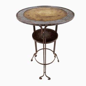 Art Nouveau Brass Side Table