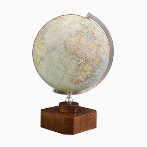 Globe Illuminé Art Déco Vintage sur Socle en Bois de Girard Barrère Et Thomas, Paris