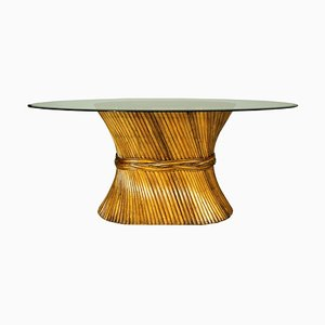 Sheaf of Wheat Dining Table in Bamboo from McGuire, 1970s