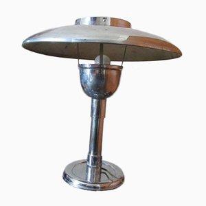 Verchromte Vintage Pilzlampe, 1950er