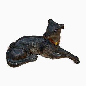 Antique Terracotta Greyhound Sculpture