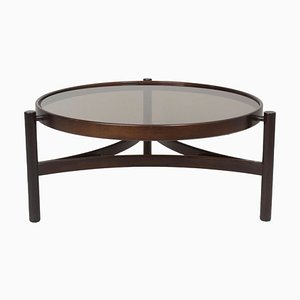Italian Modern Round Model 775 Coffee Table by Gianfranco Frattini for Cassina, 1960s