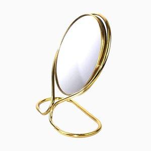 Specchio girevole con lente d'ingrandimento, anni '50