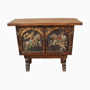 Small Spanish Carved Sideboard