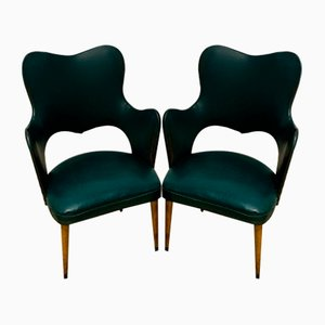 Leatherette Armchairs, 1960s, Set of 2