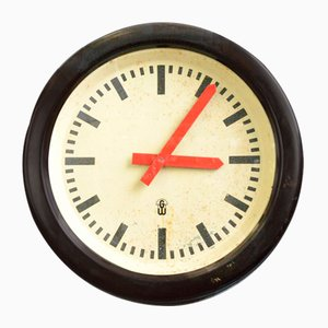 Red Handed Bakelite Factory Clock, 1960s