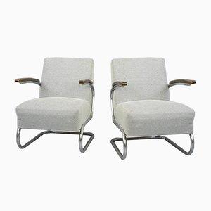 Bauhaus Armchairs from Mücke Melder, 1930s, Set of 2
