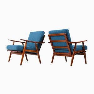 Teak GE-270 Easy Chairs by Hans J. Wegner for Getama, Set of 2