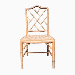 Chippendale Esszimmerstühle aus Kunstbambus, 1970er, 4er Set