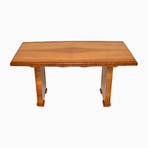 Art Deco Figured Walnut Dining Table and Desk