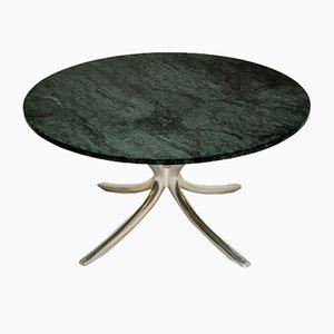 Vintage Marble & Steel Coffee Table, 1960s