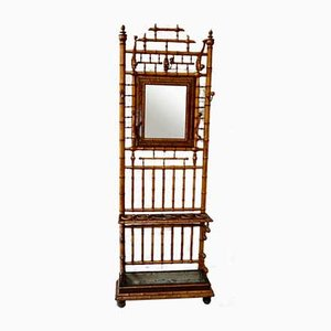 French Victorian Faux Bamboo Hall Stand