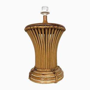 Mid-Century Italian Bamboo Table Lamp, 1970s