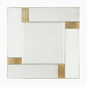 Brass and Glass Mirror, 1970s