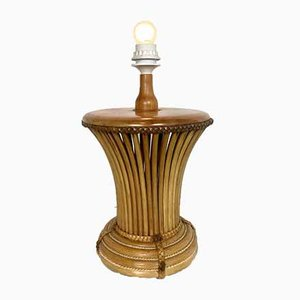 Lampe de Bureau Vintage en Bambou, Italie, 1970s