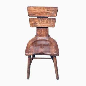 Brutalist Pub Dining Chair Set, Belgium, 1960s, Set of 4