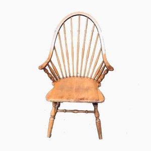 Vintage Spindle Back Model Windsor Armchair Set, 1970s, Set of 4