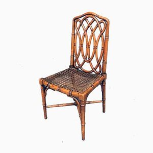 Chippendale Style Faux Bamboo Dining Chair, 1980s, Set of 6