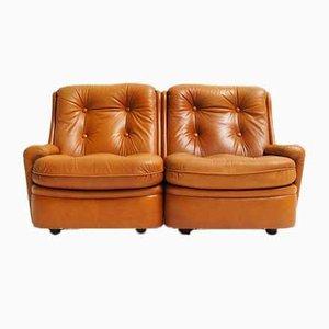 2-Sitzer Sofa aus Leder von Michel Cadestin für Airborne