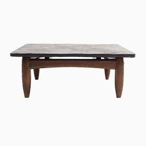 Coffee Table with Slate Top, 1960s