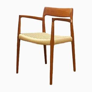 Dänischer Mid-Century # 57 Stuhl aus Teak von Niels O. Møller für JL Møllers, Dänemark, 1950er