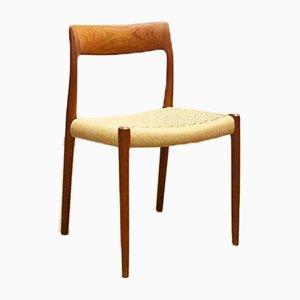 Dänischer Mid-Century 77 Stuhl aus Teak von Niels Otto (NO) Møller für JL Møllers, Dänemark, 1950er