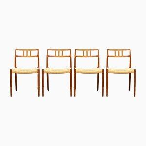 Dänische Mid-Century 79 Teak Stühle von Niels Otto (NO) Møller für JL Møllers, Denmark, 4er Set