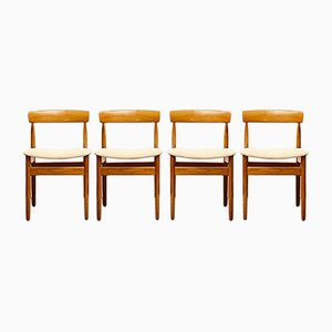 Dänische Mid-Century Teak Stühle von Farsö Stolefabrik, Dänemark, 4er Set