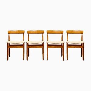 Mid-Century Danish Teak Chairs from Farsö Stolefabrik, Denmark, Set of 4