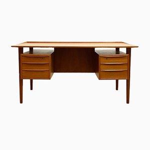 Mid-Century Danish Teak Desk by Peter Løvig Nielsen for Hedensted Møbelfabrik, Denmark, 1970s