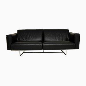 Italian Leather & Chrome Sofa by Matteo Grassi