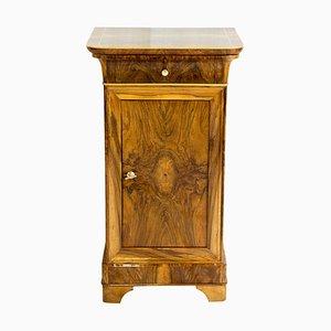 Walnut Nightstand or Side Cabinet, 19th Century