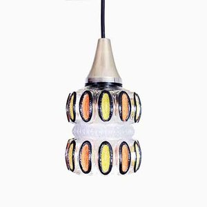 Mid-Century Glass Hanging Lamp