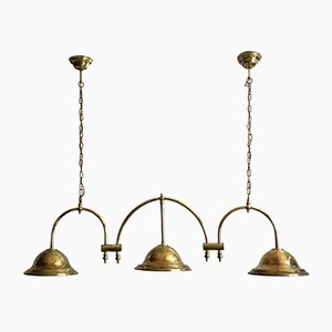 English Brass Ceiling Lamp, 1900s