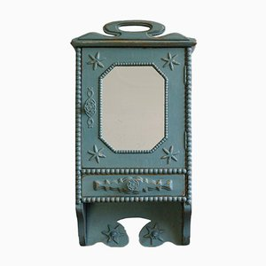 Small French Art Nouveau Wall Cabinet, 1900s