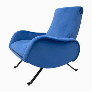 Silla reclinable Mid-Century moderna de Marco Zanuso, Italy, años 50