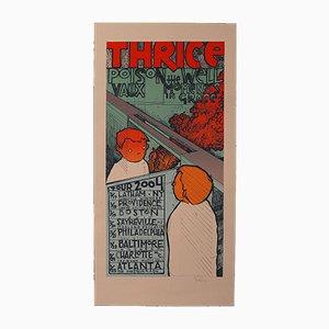 Dekoratives amerikanisches Thrice Concert Tour Poster und Kunstdruck, 2007