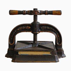 Antique Ornate Book Press, 1890s