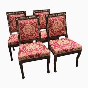Empire Mahogany Chairs, Set of 4