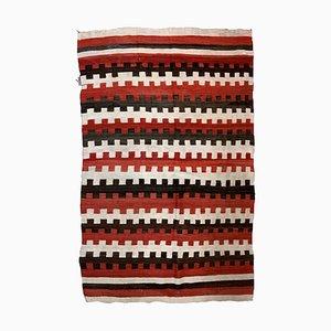 Antike handgefertigte indianische Navajo Decke, 1870er