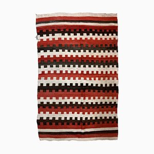 Antique Native American Handmade Navajo Blanket, 1870s