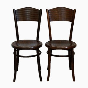 Antique Bentwood Chairs from Fischel, 1910s, Set of 2