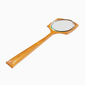 Scandinavian Hand Mirror in Teak