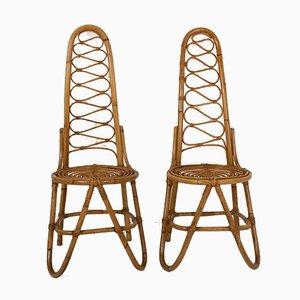 Bamboo Chairs by Dirk Van Sliedrecht for Rohe Noordwolde, 1950s, Set of 4