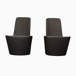 Leather Monopod Chairs by Jasper Morrison for Vitra, Set of 2