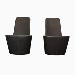 Leder Monopod Stühle von Jasper Morrison für Vitra, 2er Set