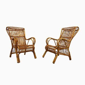Chairs in Bamboo, 1960s, Set of 2