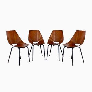 Chairs from Società Compensati Curvi, 1960s, Set of 4