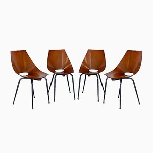Stühle von Società Compensati Curvi, 1960er, 4er Set