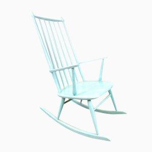 Swedish Painted Rocking Chair, 1960s